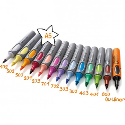 Neuland No.One® ArtMarker, brush nib, 13 Colour Sets