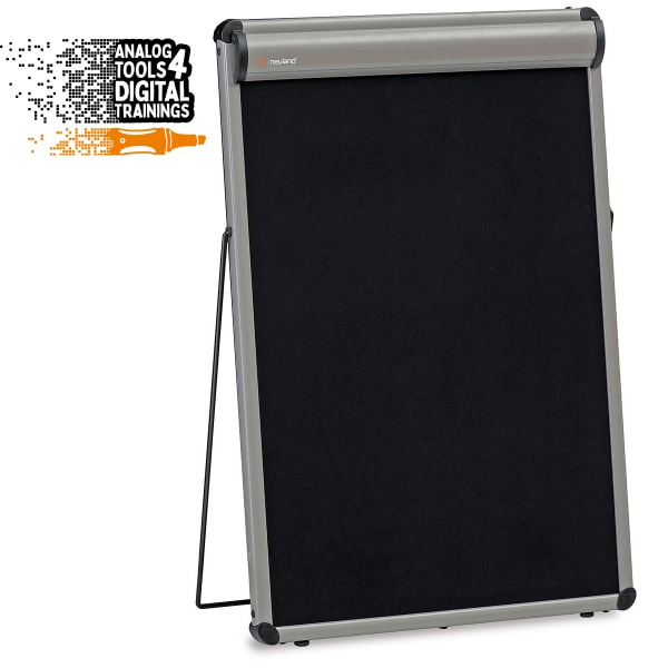 TableTop FlipChart: grey alu/black foam board