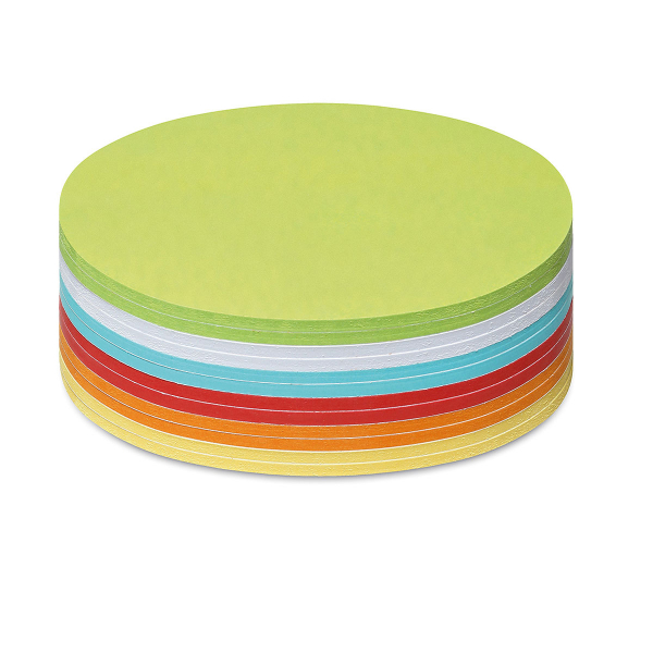 Stick-It Cards, medium circular, 300 sheets, assorted