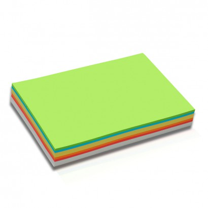 250 Rectangular Pin-It Cards, special size, assorted colours