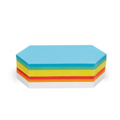 250 Rhombus Pin-It Cards, assorted colours